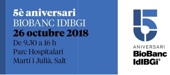 Jornada científica del quinto aniversario del Biobanco IDIBGI