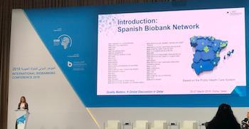 Se presenta la actividad de la RNBB en la International Biobanking Conference de Doha (Qatar)